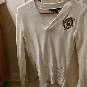 A cream white sweater